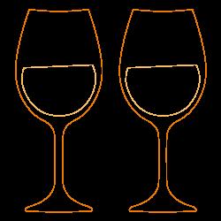 icône verres à vin